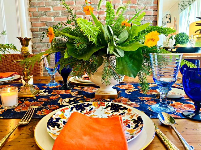 fall tablescape - how to mix and match to create a beautiful fall tablescape