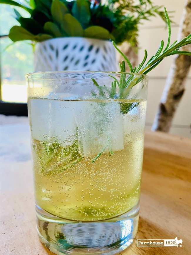 fresh herbs - The 1820 cocktail