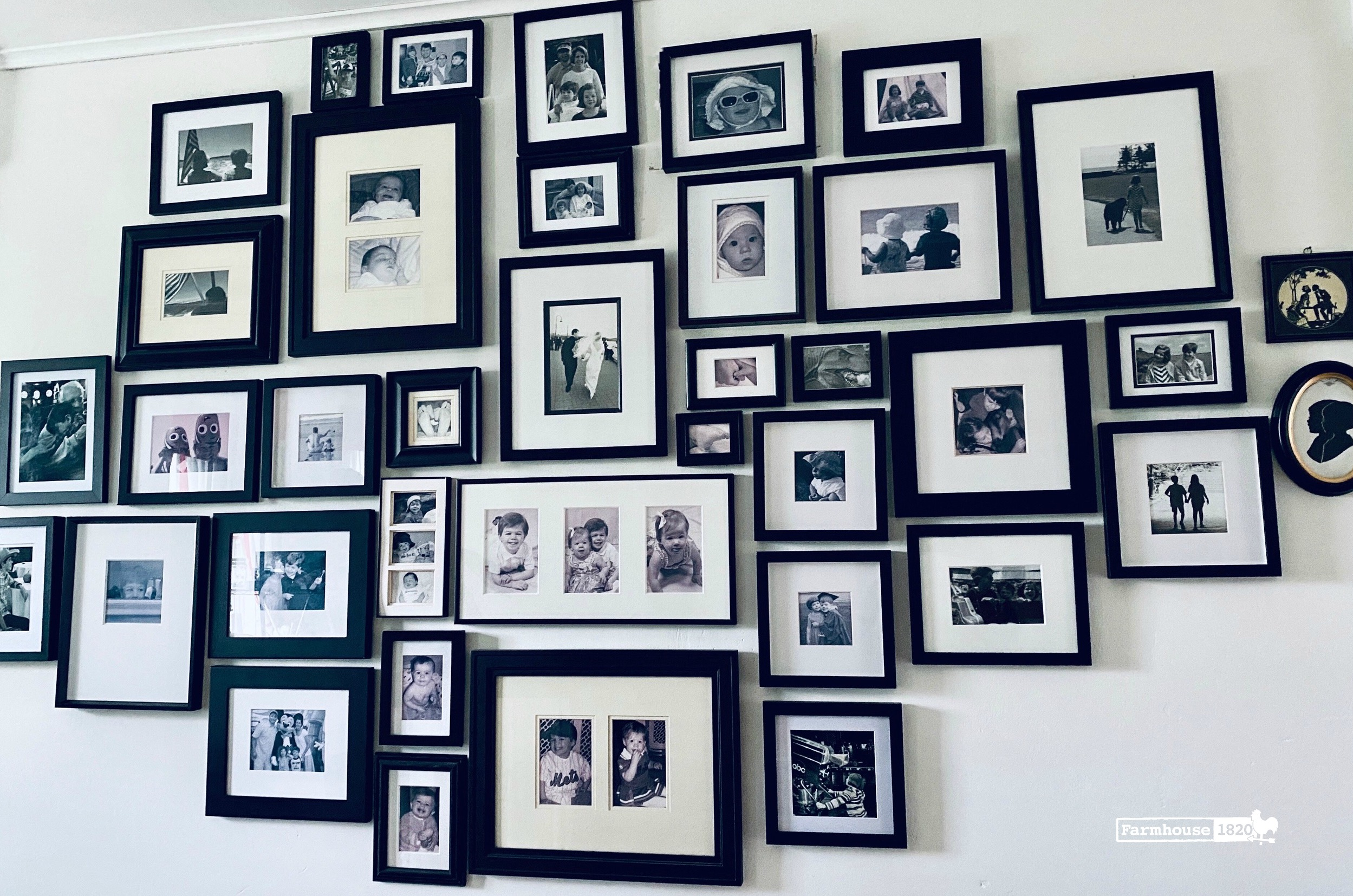 gallery wall - creating a black and white gallery wall