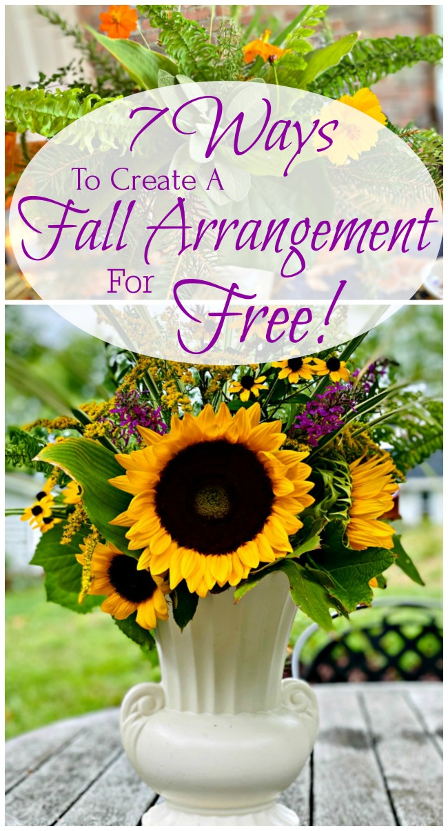 7 ways to create a fall arrangement for free - pinterest